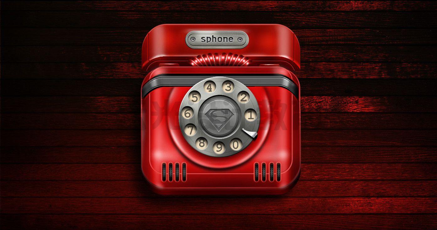 平面作品-红色电话
